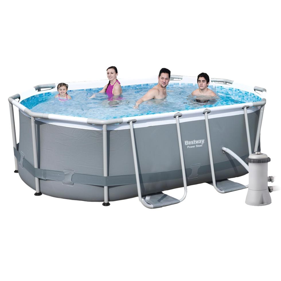Каркасный бассейн Bestway 56617, 300 х 200 х 84 см (1 250 л/ч, дозатор)