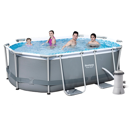 Каркасный бассейн Bestway 56617, 300 х 200 х 84 см (1 250 л/ч, дозатор), фото 2