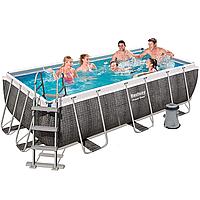 Каркасный бассейн Bestway 56722, 412 х 201 х 122 см (насос фильтр 2 006 л/ч, дозатор, лестница)