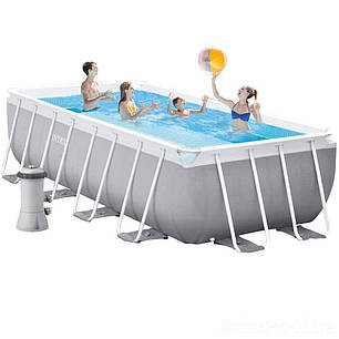 Каркасный бассейн Intex 26792, 488 x 244 x 107 см (3 785 л/ч, лестница, тент, подстилка) , фото 2