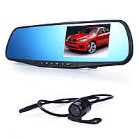 Видеорегистратор-зеркало Vehicle Blackbox HD DVR A1 с дополнительной камерой (100030)