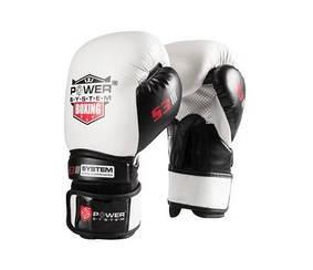 Боксерские перчатки PowerSystem PS 5001 White 12 унций