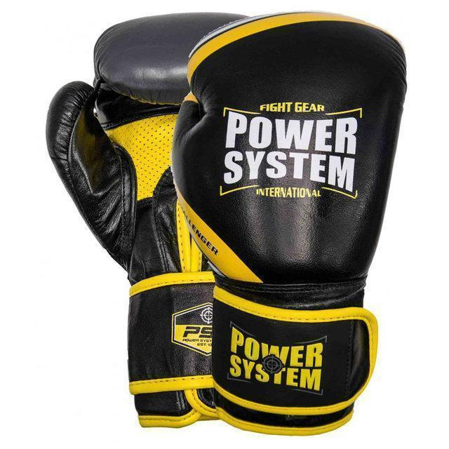 Перчатки для бокса PowerSystem PS 5005 Challenger 16oz Black/Yellow