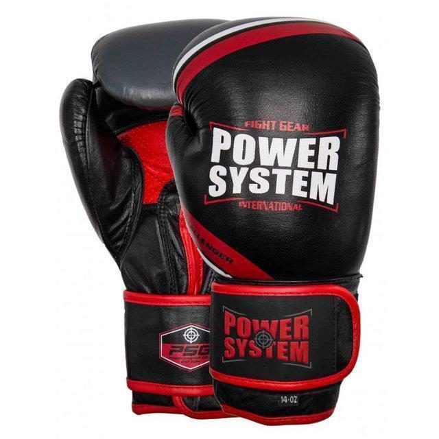 Перчатки для бокса PowerSystem PS 5005 Challenger 16oz Black/Red
