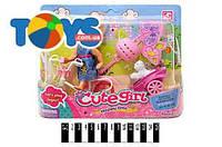 Кукла с велосипедом и аксессуарами, K899-13