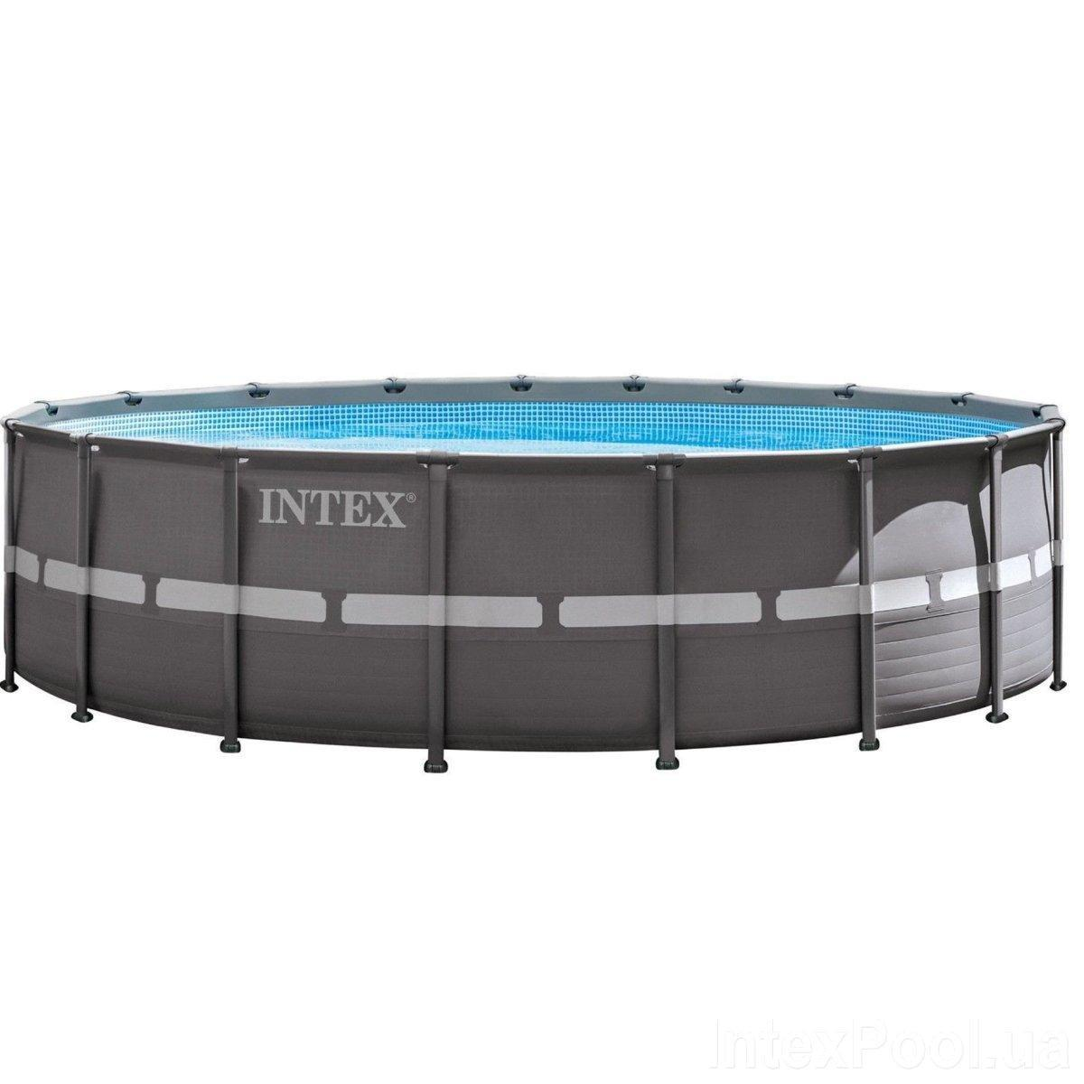 Каркасный бассейн Intex 26330 - 1, 549 х 132 см (лестница, тент, подстилка)