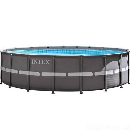 Каркасный бассейн Intex 26330 - 1, 549 х 132 см (лестница, тент, подстилка) , фото 2