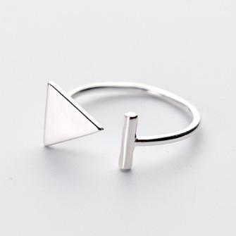 """Серебряное безразмерное кольцо """"Рискованность»"""