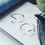 "Серебряное безразмерное кольцо ""Рискованность», фото 2"