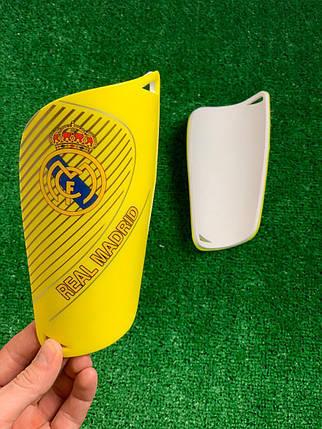 Щитки для футбола  Реал Мадрид Желтые 1101, фото 2