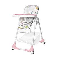 Стульчик для кормления розовый BABY TILLY Bistro T-641/2 Rose деткам от 6 месяцев