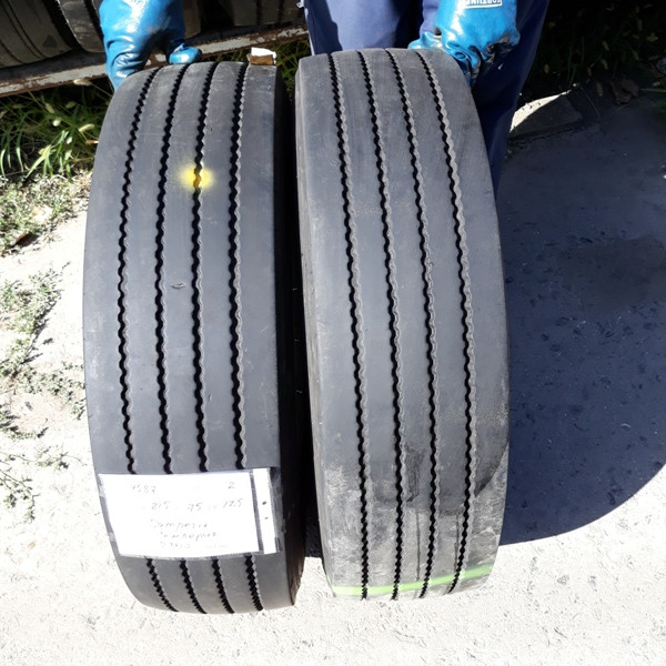 Шины б.у. 215.75.r17.5 Semperit Runner F2 Семперит. Резина бу для грузовиков и автобусов