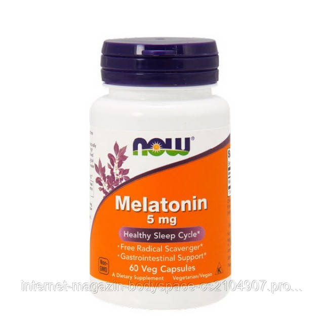 Now Foods, Melatonin, 5 mg Veg, 60 капсул