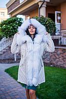 Зимняя парка с натуральным мехом арктической лисы, фото 1