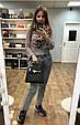 Сумка в стиле Хермес Келли 28см фактура сафьяно, эко-кожа (0373) Розовый, фото 7