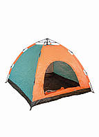 Палатка на 4 персоны Tent 210х210х140см Черный, Оранжевый, Голубой 941926390 (DI66941926390)