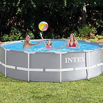 Каркасный бассейн Intex 26720, 427 х 107 см (насос-фильтр 3 785 л/ч, лестница, тент, подстилка) , фото 2