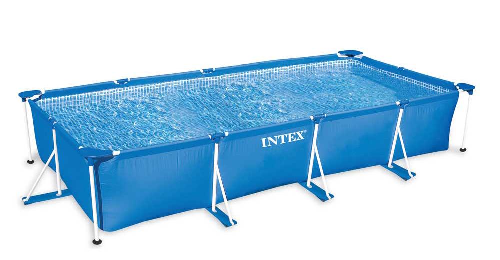 Каркасный бассейн Intex 28273 - 2, 450 х 220 х 84 см (тент, подстилка)