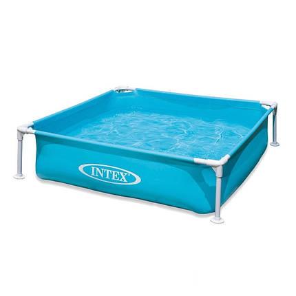 Каркасный бассейн Intex 57173, 122 х 122 х 30 см, голубой , фото 2