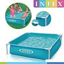 Каркасный бассейн Intex 57173, 122 х 122 х 30 см, голубой , фото 3
