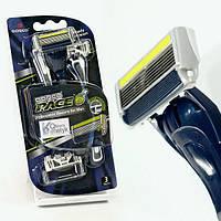 Мужской одноразовый станок для бритья Dorco Pace 6 Plus + тример 3 шт (3034)