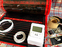 5м2. Комплект саморегулирующего инфракрасного теплого пола Rexva с программируемым терморегулятором SET-08