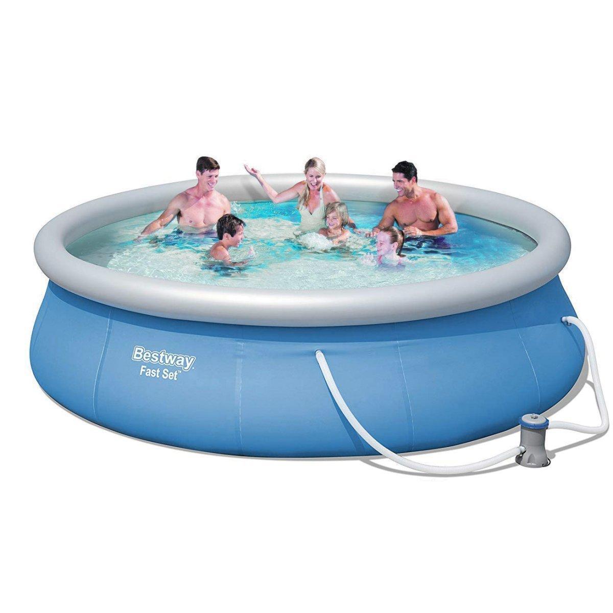 Надувной бассейн Bestway 57321, 396 х 84 см (насос-фильтр 2 006 л/ч)