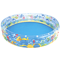 Детский надувной бассейн Bestway 51004 «Подводный мир», 152 х 30 см