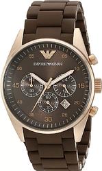 Мужские часы Emporio Armani Sports Watch черный и коричневый ремешок