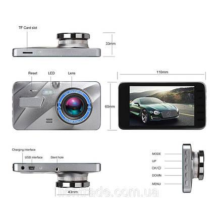 """Автомобильный видеорегистратор DVR A10 Full HD 4"""" WDR Premium Class 2 камеры, фото 2"""