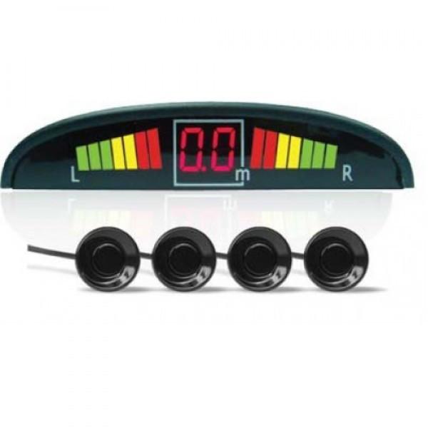 Автомобильный парктроник на 4 датчика с дисплеем парковочный радар GBX PS-201 LED дисплей