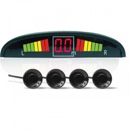 Автомобильный парктроник на 4 датчика с дисплеем парковочный радар GBX PS-201 LED дисплей, фото 2