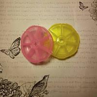 Контейнер таблетница круглая, 7 секций, цвет в ассортименте