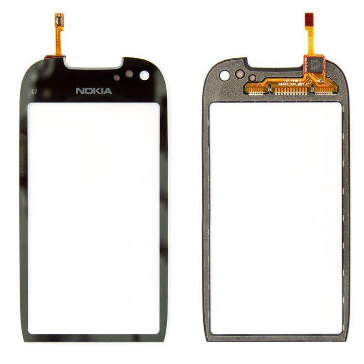 Сенсор (тачскрин) для телефона Nokia C7-00 (original) Black