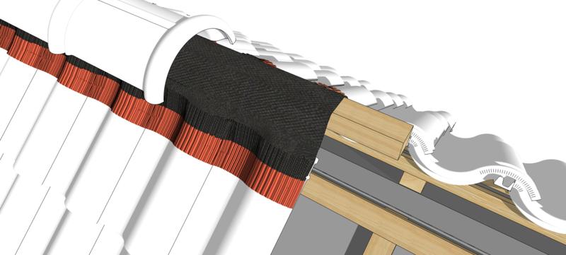 Вентиляционная лента конька Alenor 240 мм х 5 м