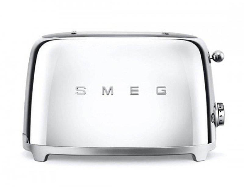 Тостер на 2 тоста Smeg хром TSF01SSEU