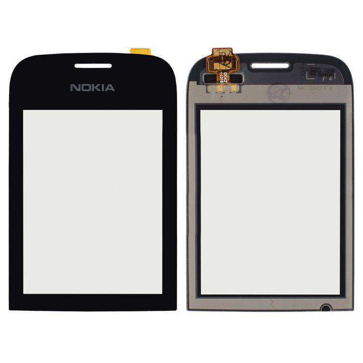 Сенсор (тачскрин) Nokia Asha 202, Asha 203 (original) Black