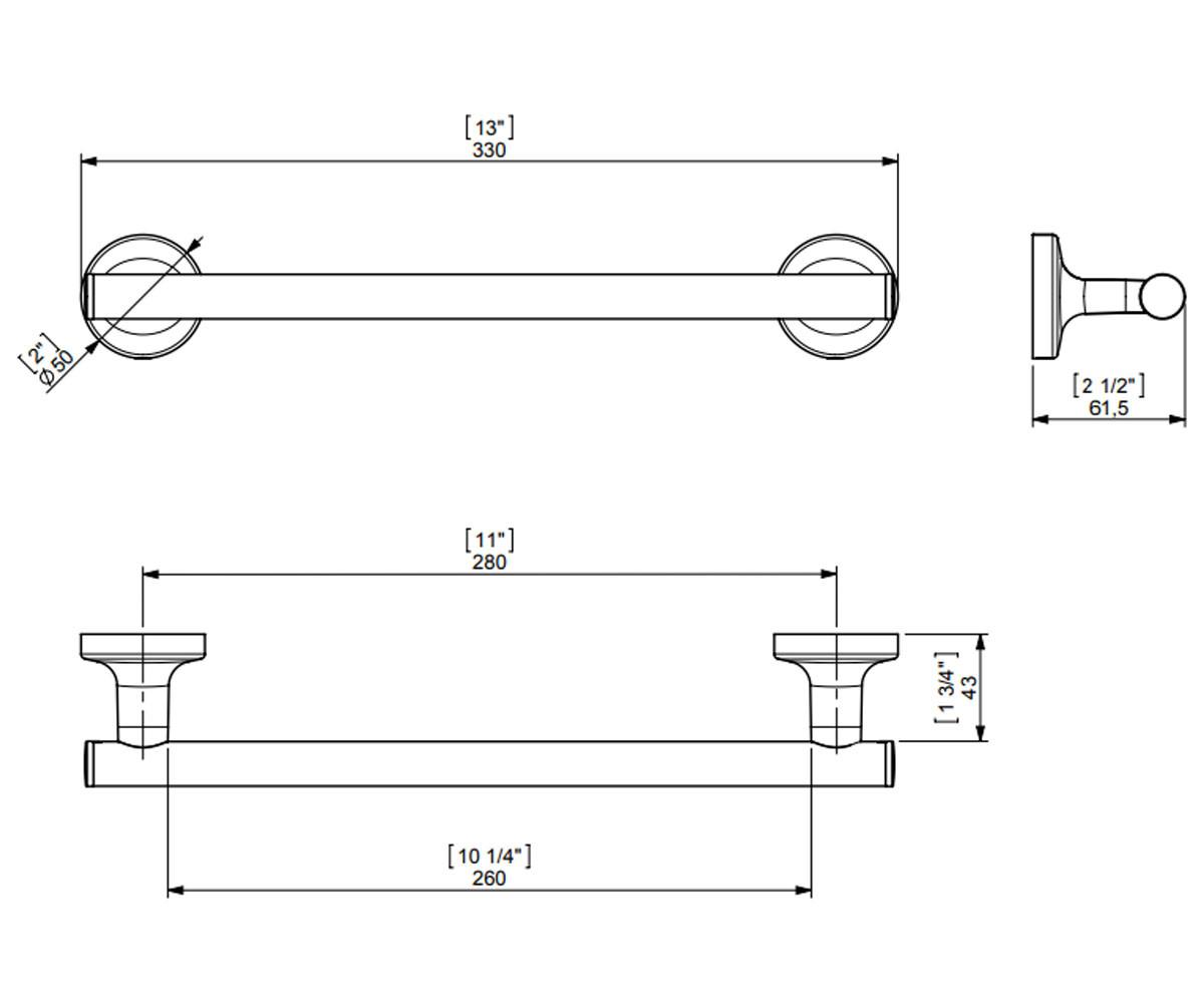 Одинарная вешалка 33 см SONIA E-PLUS 124442 2