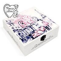 Скринька комод Париж з поділками 17 *17 * 7 см