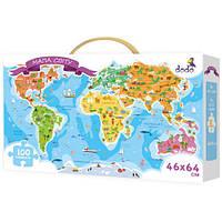 Пазл Карта Мира Мапа Світу Пазлы 100 эл. ДоДо DoDo 300110 009871, фото 1