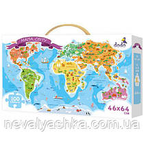 Пазл Карта Мира Мапа Світу Пазлы 100 эл. ДоДо DoDo 300110 009871