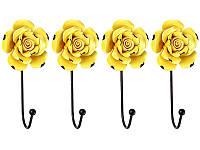 Вешалка на стену Lefard Желтая Роза  8х6х16 см 574-179А1