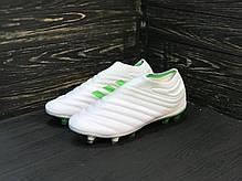 Бутсы Adidas Copa 19+FG/AG White без шнурков, фото 2
