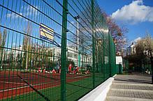 Ограждения для спортивных площадок «Техна-Спорт» Класик d4 4 метра Размеры сеточного полотна 2030х2500, фото 3