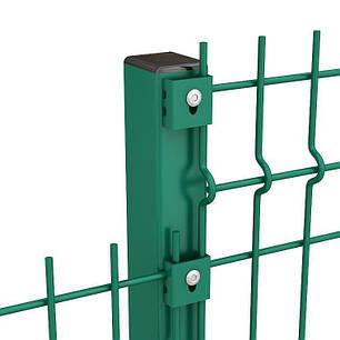 Оцинкованный профильный столб с полимерным покрытием Эко s мм 1,0 Размер профиля 45 Высота столба 2500, фото 2