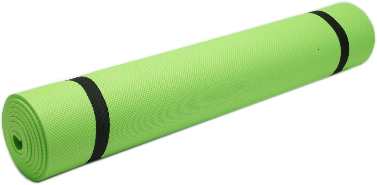 Коврик для фитнеса, йогамат (MS 0380-2) EVA  173-61 см. Зеленый 5 мм.