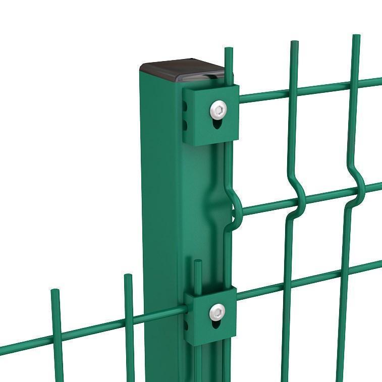 Оцинкованный профильный столб с полимерным покрытием Медиум s мм 2,0 Размер профиля 80х60 Высота столба 4000
