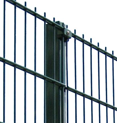 Оцинкованный профильный столб с полимерным покрытием Медиум s мм 2,0 Размер профиля 80х60 Высота столба 4000, фото 2