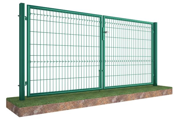Распашные ворота Техна-Лайт с задвижкой под навесной замок Высота 1680  Ширина 3000 Столб 2300х80х60, фото 2