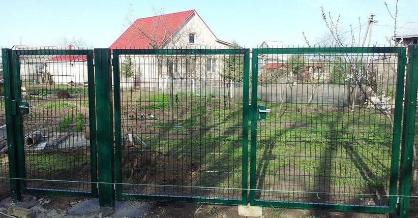 Распашные ворота с фурнитурой Locinox ТЕХНА Класик/Пром Высота 2430 Ширина 4000 Столб 3500х80х80, фото 2